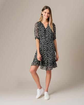 Jigsaw Leaves Crinkle Tea Dress
