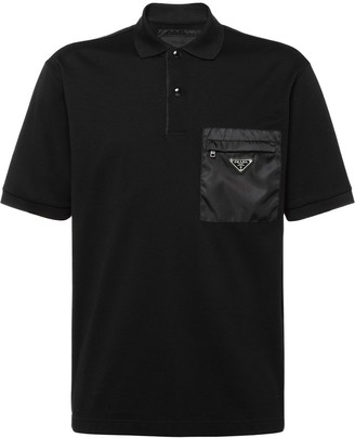 Prada Cotton pique polo shirt with inserts