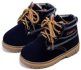DADAWEN Baby's Boy's Girl's Classic Lace-Up Waterproof Outdoor Hiking Winter Boots (Toddler/Little Kid) - 5.5 US