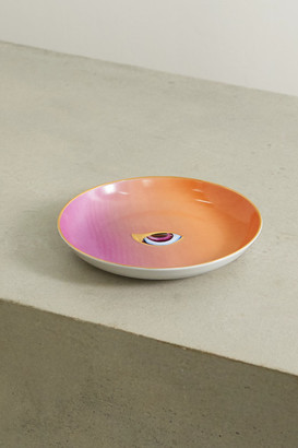 L'OBJET + Lito Gold-plated Porcelain And Resin Plate - Pink