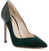 Karen Millen Suede & Patent Leather Pointed Toe Pump