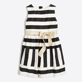 J.Crew Factory Girls' striped sateen dress