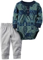 Carter's Baby Boy Tribal Henley Bodysuit & Pants Set