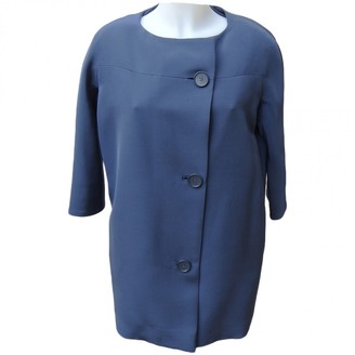 Balenciaga Blue Silk Coat for Women