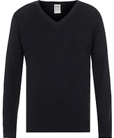 John Lewis Wool Mix V-Neck School Jumper