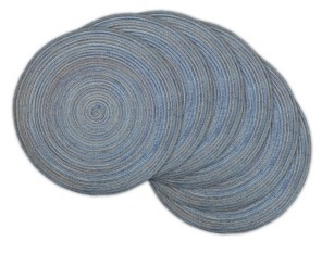 Design Imports Variegated Round Woven Placemat, Set of 6