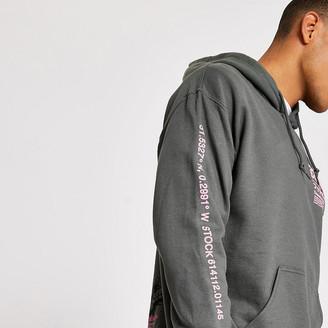 River Island Grey splatter printed long sleeve hoodie