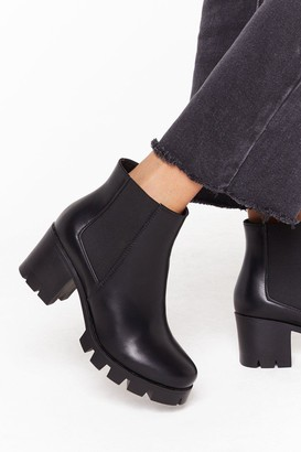 Nasty Gal Womens We Won't Be De-cleated Wide Fit Boots - black - 3