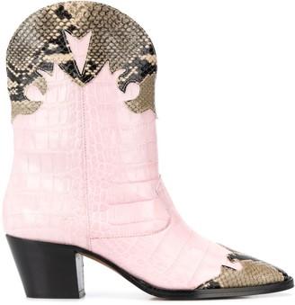 Paris Texas Python-Effect Cowboy Boots