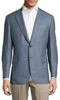 Brioni Classic-Fit Plaid Wool Jacket