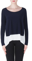 Joseph Ribkoff Midnight Layered Top