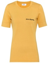 Frame Embroidered cotton T-shirt
