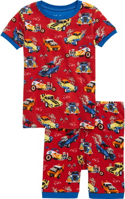 Hatley Hot Rods Organic Cotton Fitted Two-Piece Pajamas