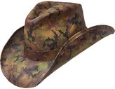 Peter Grimm Ltd Men's Scout Camo Print Straw Cowboy Hat