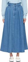 69 Blue Denim Cow Person Skirt