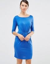 Lavand Gather Detail Shift Dress In Blue