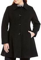 Preston & York Plus Fit-and-Flare Wool Coat