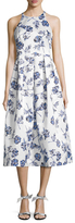 Shoshanna Floral Print Pleated Gown