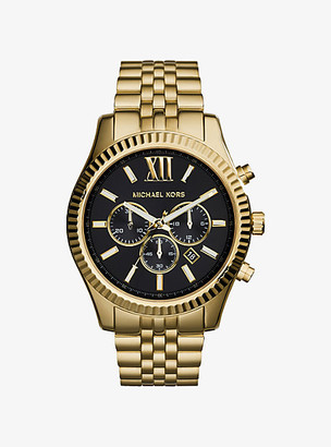 Michael Kors Oversized Lexington Gold-Tone Watch