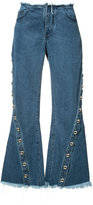 Marques Almeida Marques'almeida - flared jeans - women - Cotton - 8