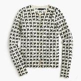 J.Crew Lightweight wool Jackie cardigan sweater in bow print