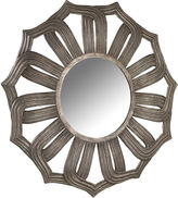 Asstd National Brand Antique Silver Lotus Mirror