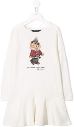 Ralph Lauren Kids winter bear jersey dress