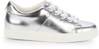 Saks Fifth Avenue Talico Metallic Leather Sneakers