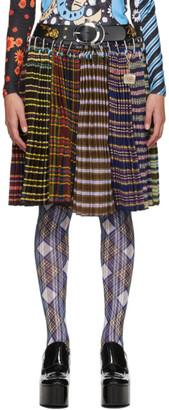 Chopova Lowena Multicolor Ollie Knee Skirt Wool