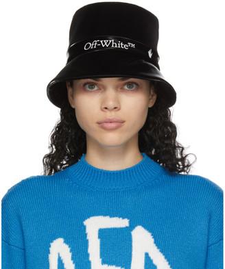 Off-White Black Logo Rain Beach Hat
