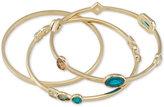 Carolee Gold-Tone 3-Pc. Set Crystal Bangle Bracelets