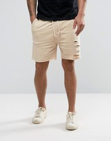 Another Influence Distressed Jersey Shorts