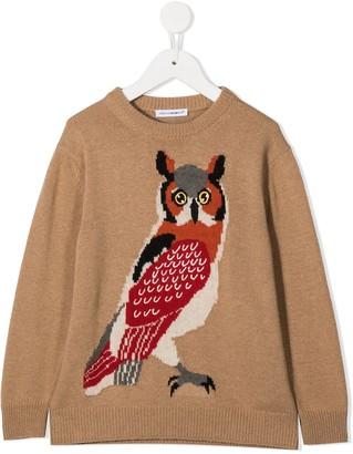 Dolce & Gabbana Kids Owl Print Knitted Jumper
