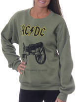 Asstd National Brand AC/DC Juniors' Cannon For Those About to Rock Vintage Graphic Sweatshirt