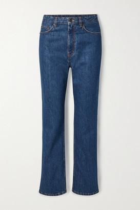 The Row Christie High-rise Straight-leg Jeans - Mid denim