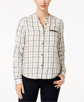 Calvin Klein Jeans Zippered-Pocket Plaid Shirt