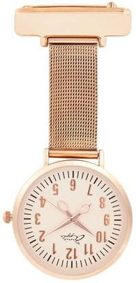 Bermuda Watch Company Annie Apple Mesh Rose Gold Nurse Fob Watch
