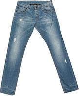 Les Hommes Tapered Five-Pocket Jeans