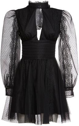 BROGNANO Tulle & Lace Mini Dress