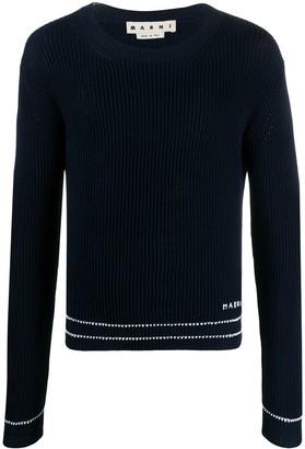 Marni Logo Knitted Jumper