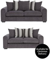 Cavendish Illusion 3-Seater + 2-Seater Fabric Sofa Set