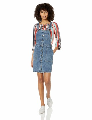 RVCA Women's Conquer Fitted Dungaree Dress