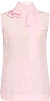 Rochas Corsage neck-tie crepe de Chine blouse