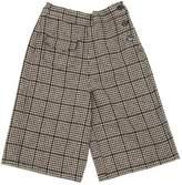 Houndstooth Wool Felt Pants