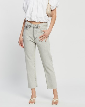 Mng Women's Grey Crop - Havana Jeans - Size 34 at The Iconic