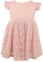 Popatu Lace Overlay Flutter Dress