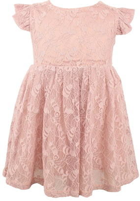 Popatu Lace Overlay Flutter Dress