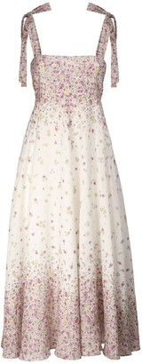 Zimmermann Carnaby Printed Linen Midi Dress