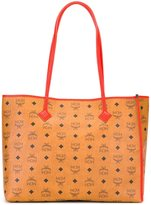 MCM logo print tote - unisex - Leather - One Size