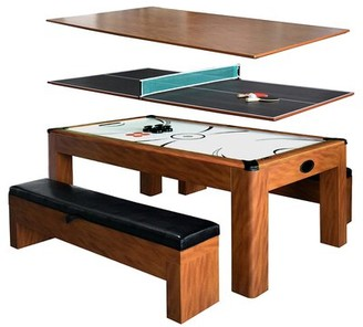 """84"""" Air Hockey Table Hathaway Games Color: Light Cherry"""
